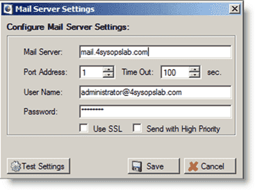 Account and Password expiration - Configuring an SMTP server