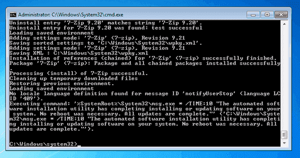 Wpkg xml not updating