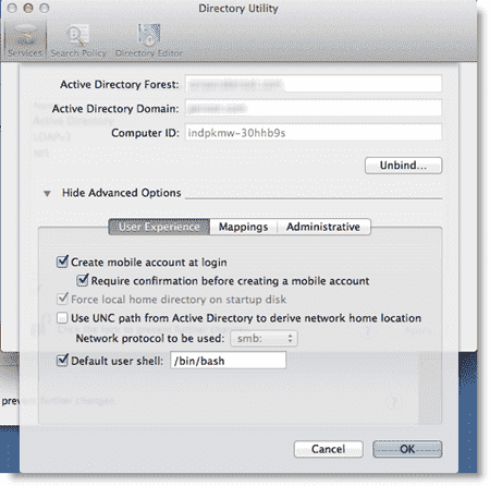 Binding Mac OS X Lion to AD