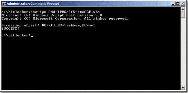 Bitlocker Active Directory - ACE Update Success