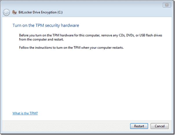 Bitlocker Active Directory - BitLocker Restart