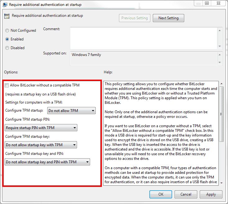 Active Directory and BitLocker – Part 3: Group Policy