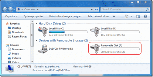 Bitlocker Active Directory - Encrypted Removable Drive