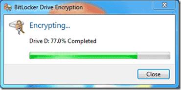 Bitlocker Active Directory - Encrypting