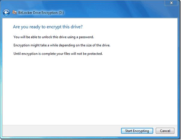 Bitlocker Active Directory - Start Encrypting