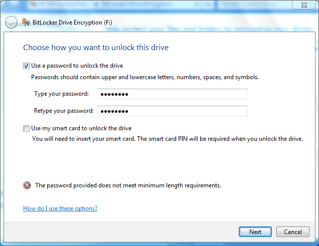 password does not meet the policy requirements windows xp