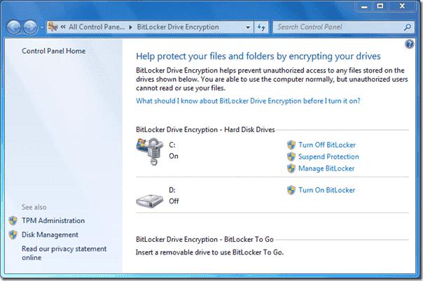 Bitlocker Active Directory - Turn on BitLocker
