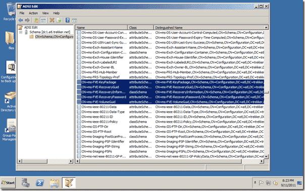 Bitlocker Active Directory - Windows 2008 R2 DC Schema