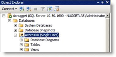 Database in single-user mode