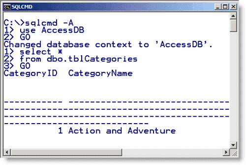 Dedicated Administrator Connection - Accessing the DAC by using sqlcmd