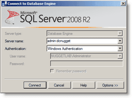 Dedicated Administrator Connection - Logging into SQL Server with the DAC