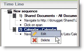 Editing a Web transaction step