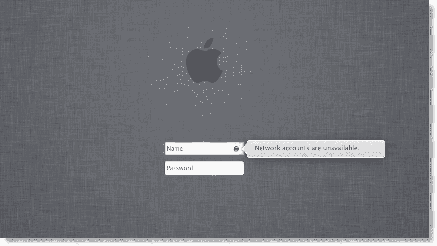 """Troubleshooting the """"Network accounts are unavailable"""" error in Mac"""