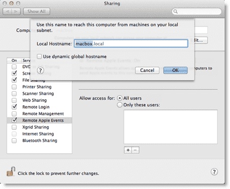 Setting the Mac Hostname