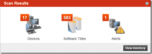 Spiceworks installation - Spiceworks scan results