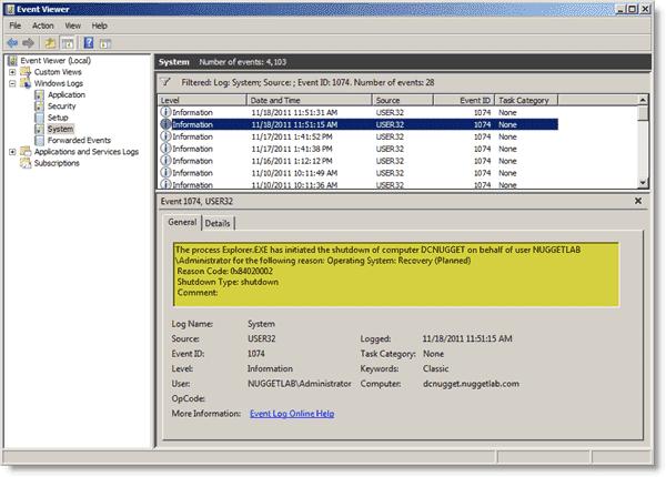 Disable Shutdown Event Tracker - Shutdown Event Tracker events in Event Log