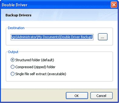 DoubleDriver backup options