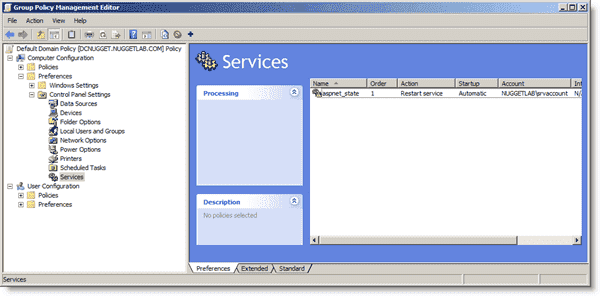 Managing services with Group Policy
