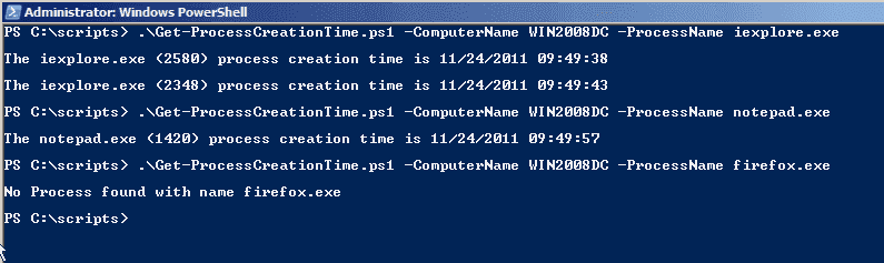 Query and kill a process on a remote computer using PowerShell and