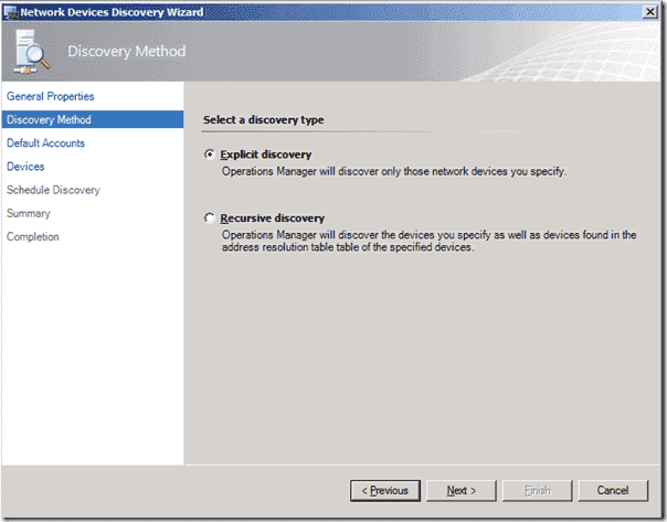 SCOM 2012 - Network Monitoring Discovery