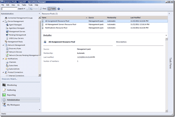 SCOM 2012 - Resource Pools