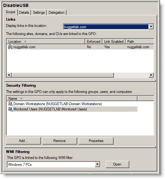 How to disable USB drive use in an Active Directory domain – 4sysops