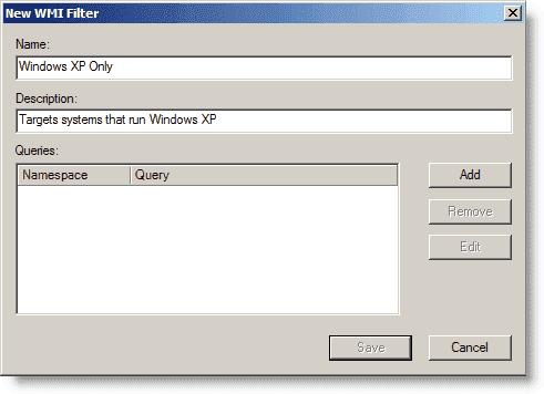 New WMI Filter