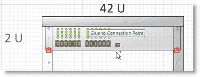 Visio 2010 server rack - Gluing shapes in Visio 2010