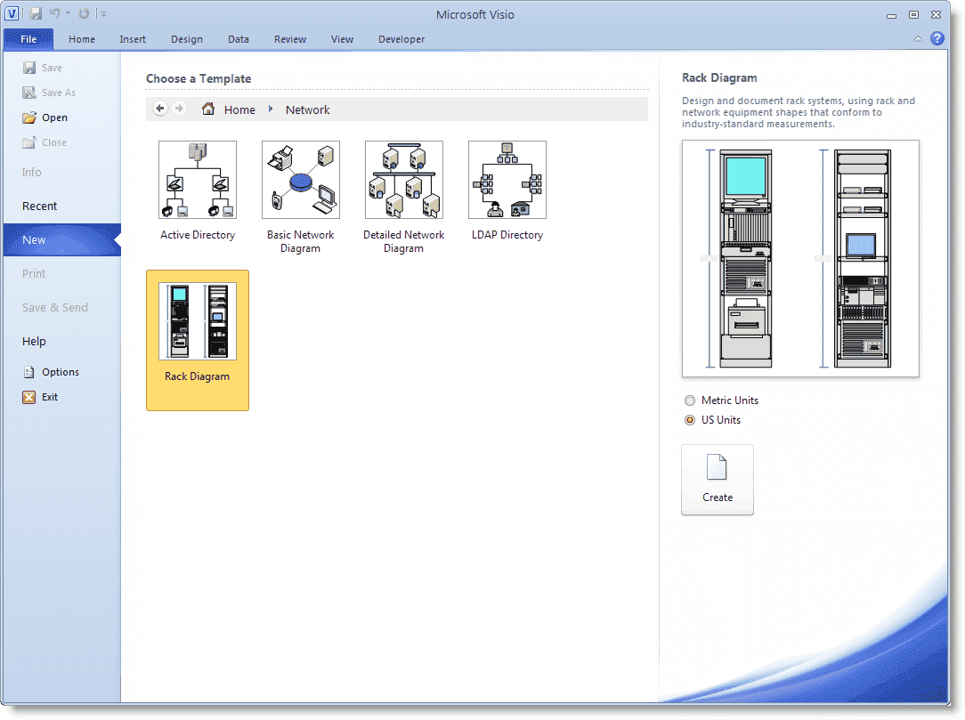 Visualizing Your Server Rack With Microsoft Visio 2010