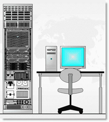 Visio server rack - The finished product