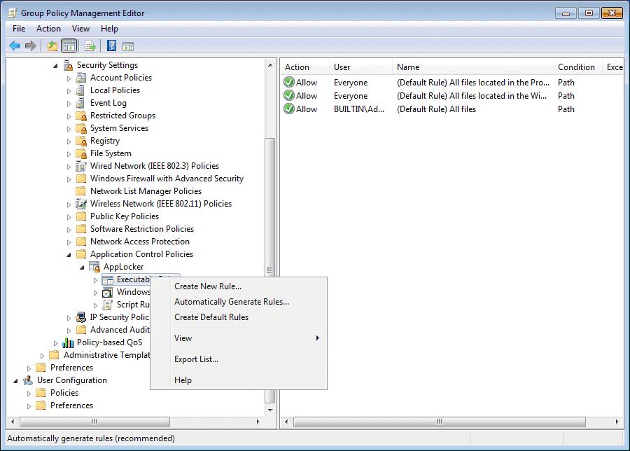 AppLocker (Windows 10)