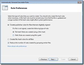 AppLocker - Rule Preference