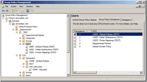 Group Policy - Precedence