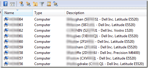 Active Directory description field