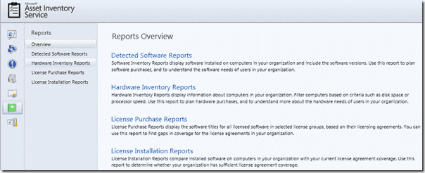Asset Inventory Service (AIS) -  Reporting features