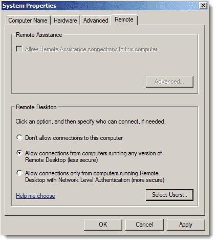 Mac - Remote Desktop Desktop Connection - Enable RDP in Windows Server 2008