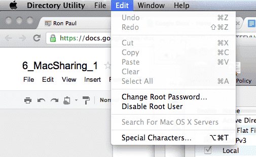how to create root user in mac