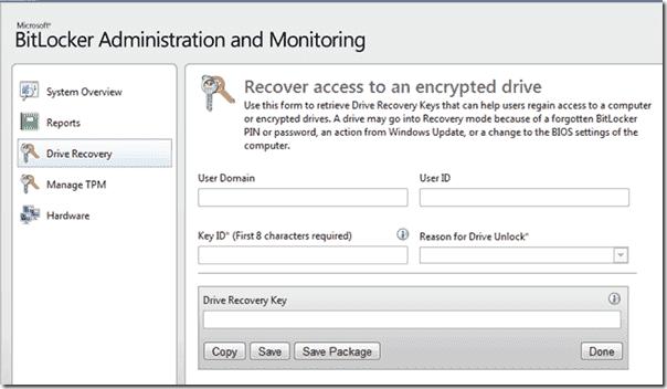 Microsoft Bitlocker Administration and Monitoring (MBAM)
