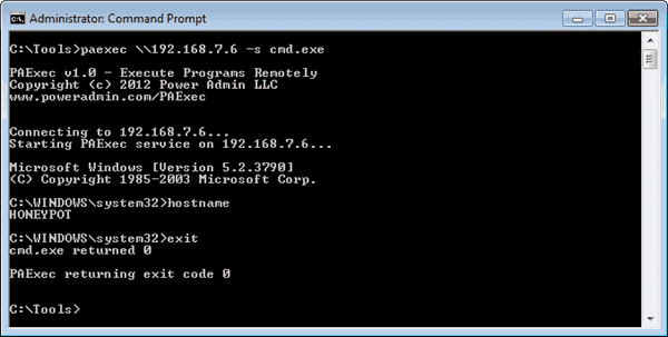 PAexec - Run programs on remote Windows servers