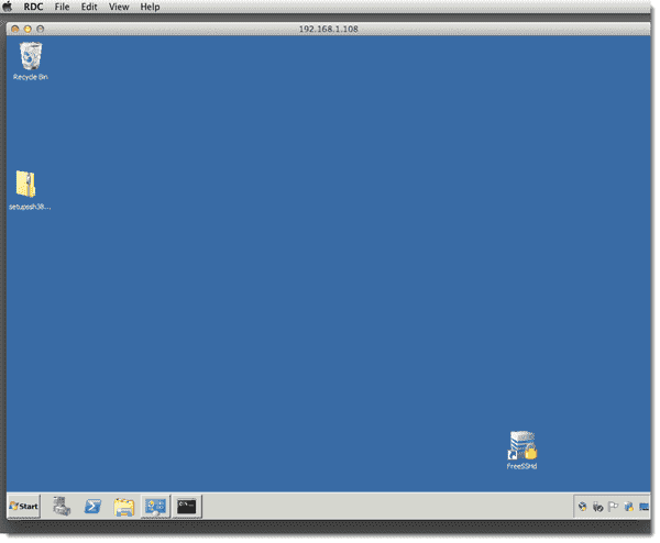 Remote Windows Server 2008 session from Mac OS X