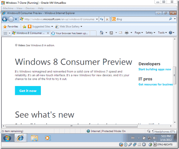 Windows 8 upgrade - Get it now