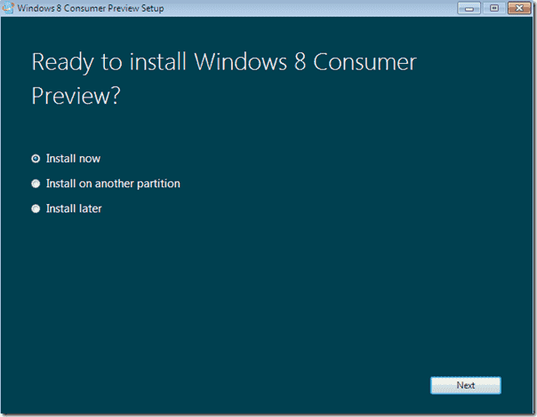 Windows 8 upgrade - Ready to install Windows 8