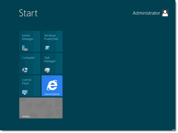Windows Server 8 Beta Metro UI