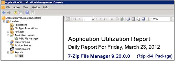App-V - Application report