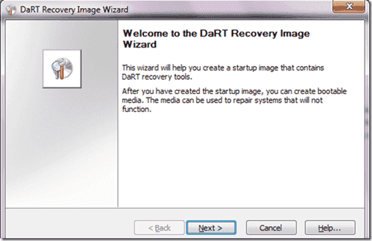 DaRT Recovery Image Wizard