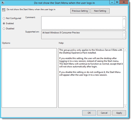 Disable Windows 8 Metro - Controlling the appearance of Metro UI in Group Policy