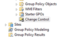 MDOP AGMP - The Change Control node within the GPMC