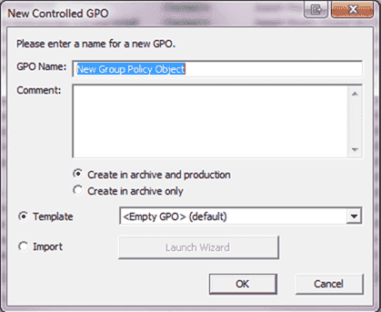 MDOP AGMP - The New Controlled GPO prompt allows for the creation of controlled policies