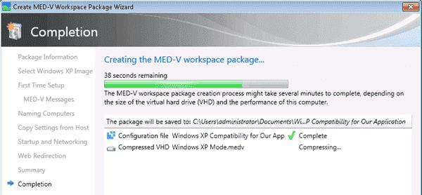 MED-V - workspace package creation