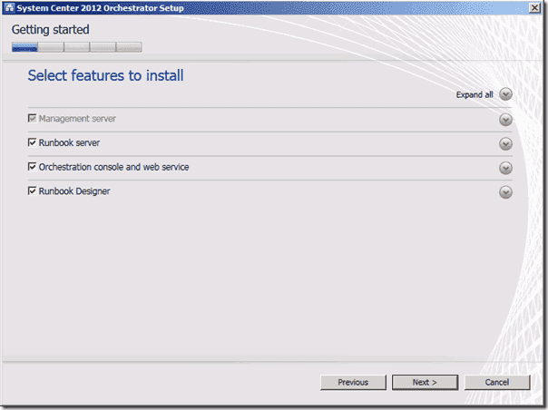 System Center Orchestrator 2012 - Install Components